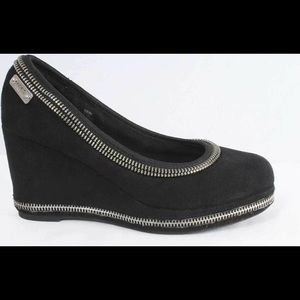 3 Girls / 4.5 Women's Michael Kors Black Zip Wedge